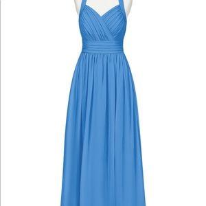 Azazie Veronica Blue Jay Halter Bridesmaid Dress